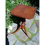 Candlestand or Table American Tiger Maple Early and Unusual