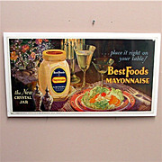 Advertising Sign  Best Foods Mayonnaise Lithograph 50%  OFF