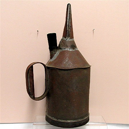 Large Tin Oil Can  Vermont Primitive