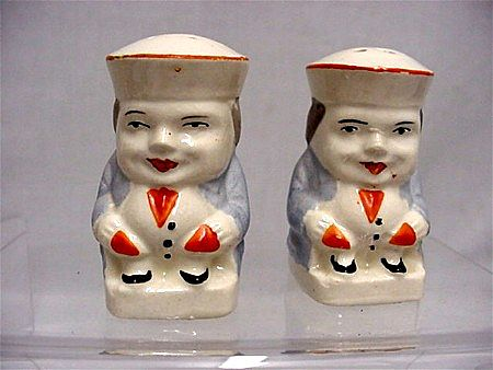 SOLD   Salt and Pepper Set Pair of Tory Shakers