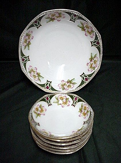 Ice Cream Set Austrian Porcelain Service for Four   ***Selling at Cost