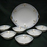 Butter Set Nippon Porcelain Service for Six   ***Selling at Cost