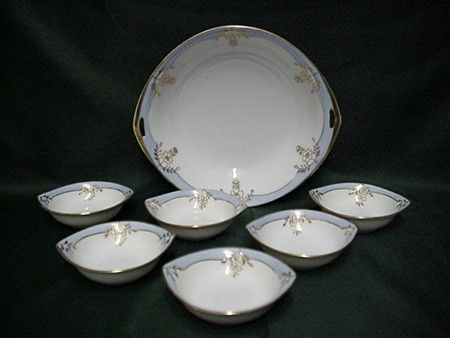 Butter Set Nippon Porcelain Service for Six