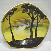 Nippon Porcelain Footed Dish Hand Painted Scenic