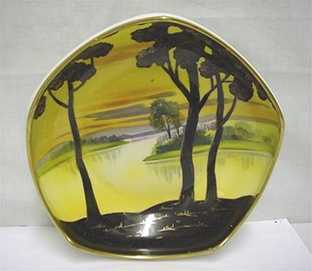 Nippon Porcelain Footed Dish Hand Painted Scenic   ***Selling at Cost