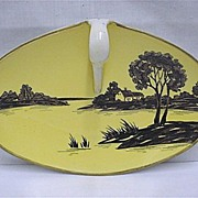 Nippon Porcelain Certified Mark Silhouette Nappy or Lemon Dish   ***Selling at Cost