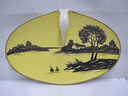 Nippon Porcelain Certified Mark Silhouette Nappy or Lemon Dish