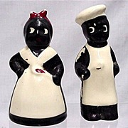 Salt and Pepper Set Black Chef Shakers