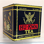 HU-KWA Advertising Tea Tin 50% OFF
