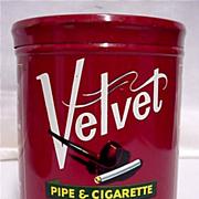 Humidor Advertising Tobacco Tin For Velvet