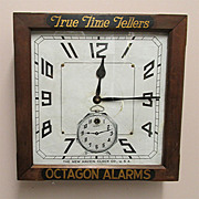 Antique Advertising Clock for Tom-Tom Alarm Clocks 100% Original