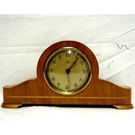 German Tambour Clock with Alarm Small Size