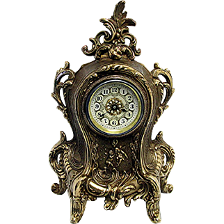 French Antique Mantel Clock  Runs and Keeps Time