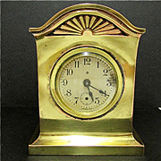 Mantel Clock  Gold Gilt Ansonia Antique