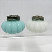 Salt and Pepper Set Dithridge Glass Shakers  1895 - 1901