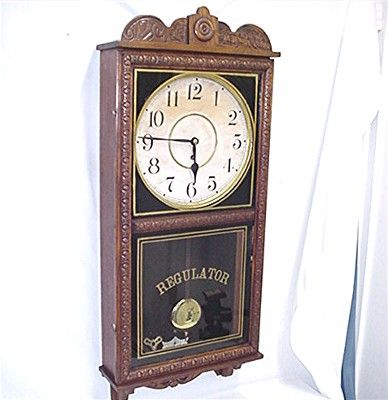 Antique American Wall Clock Waterbury Regulator
