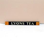 SOLD     LYONS Tea Store Display Tin Advertising Sign