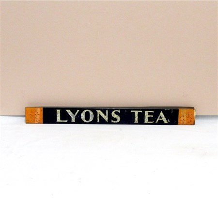 SOLD     LYONS Tea Store Display Tin Advertising Sign