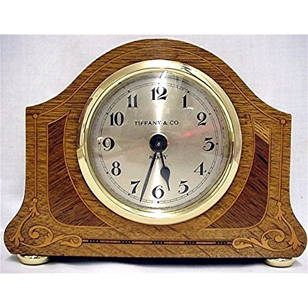SOLD     Inlaid Desk Clock  Retailed by Tiffany