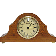 Inlaid Swiss Mantel Clock, Keeps Time