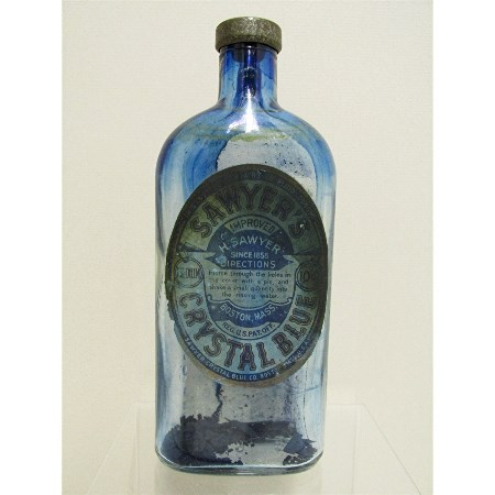 SOLD   Saywer's Crystal Blueing Glass Bottle