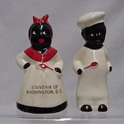 Black Chefs Salt and Pepper Set  Souvenir of Washington DC Shakers