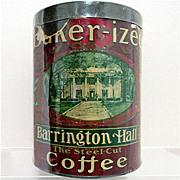 Barrington Hall Advertising Coffee Tin