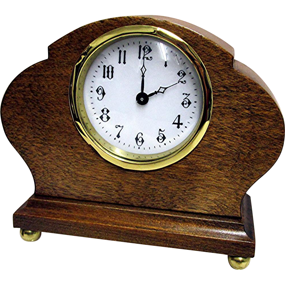 Sold Antique French Desk or Mantel Clock