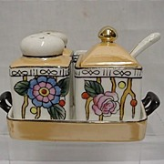 Chikaramachi Porcelain Art Nouveau Condiment Set   ***Selling at Cost