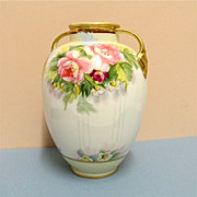 Nippon Vase Hand Painted Peonies   ***Selling at Cost