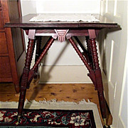 Victorian Center Table in Walnut