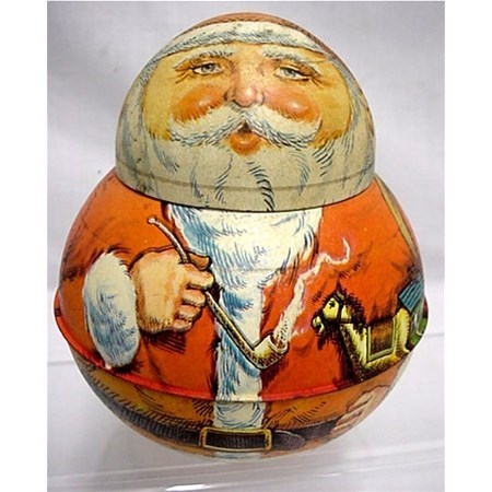 Santa Roly Poly  Advertising Tin