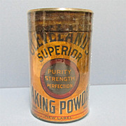 Clevelands Superior Baking Powder Tin