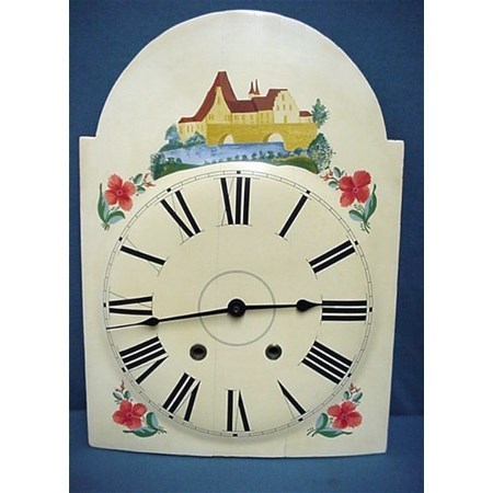 Wood Clock Dial from Pennsylvania Painted Grandfather Clock Face