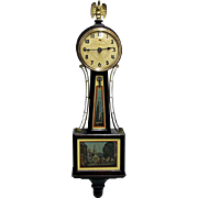 Paul Revere Banjo Wall Clock Runs and Keeps Time