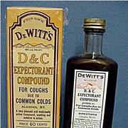 Unopened DeWitts D & C Expectorant Compound Cough Syrup