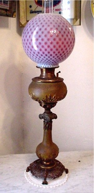 Antique Table Lamp By Bradley and Hubbard Banquet Lamp