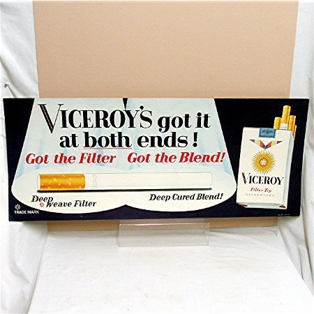 Viceroy Cigarette Lithograph Advertising Sign