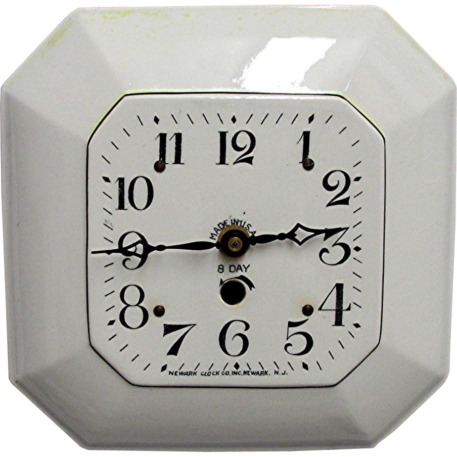 Porcelain New Jersey Wall Clock WORKS and Keeps Time