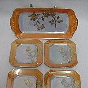 Lusterware Porcelain Service for 4 Complete Art Deco Set    ***Selling at Cost