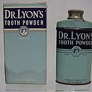 Advertising Tin For Dr. Lyons Tooth Powder in Original Box