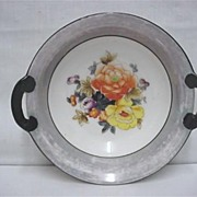 Noritake Certified Mark Serving Dish  or Bowl in Grey Lusterware