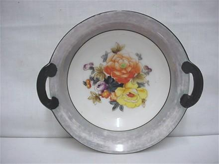 Noritake Certified Mark Serving Dish  or Bowl in Grey Lusterware  ***Selling at Cost
