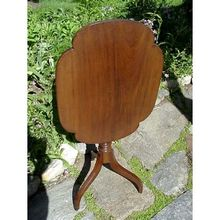 American Candle Stand in Walnut a Tilt Top Table with Spider Legs