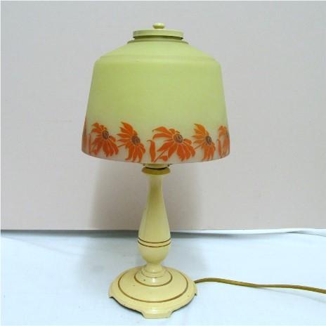 Lamp Table or Boudoir Signed Moe Bridges