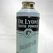 Sample Tin For Dr. Lyons Tooth Powder Mint Unopened