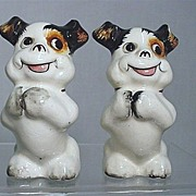 Salt and Pepper Set Standing Smiling Dog Shakers