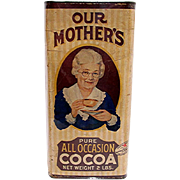 Mothers Cocoa Advertising Tin