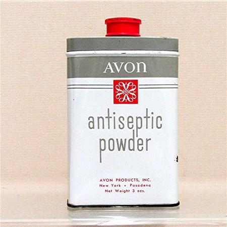 Advertising Tin for Avon Antiseptic Powder 50% OFF