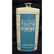 McConnon Tooth Powder Tin Mint Condition